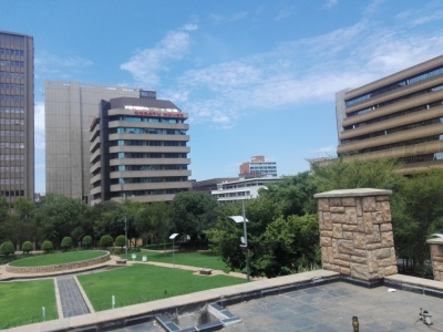 image: view from Joburg Theatre
