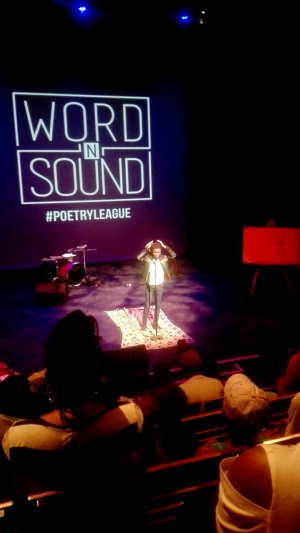 image: Ole performing at the Word 'n Sound poetry league